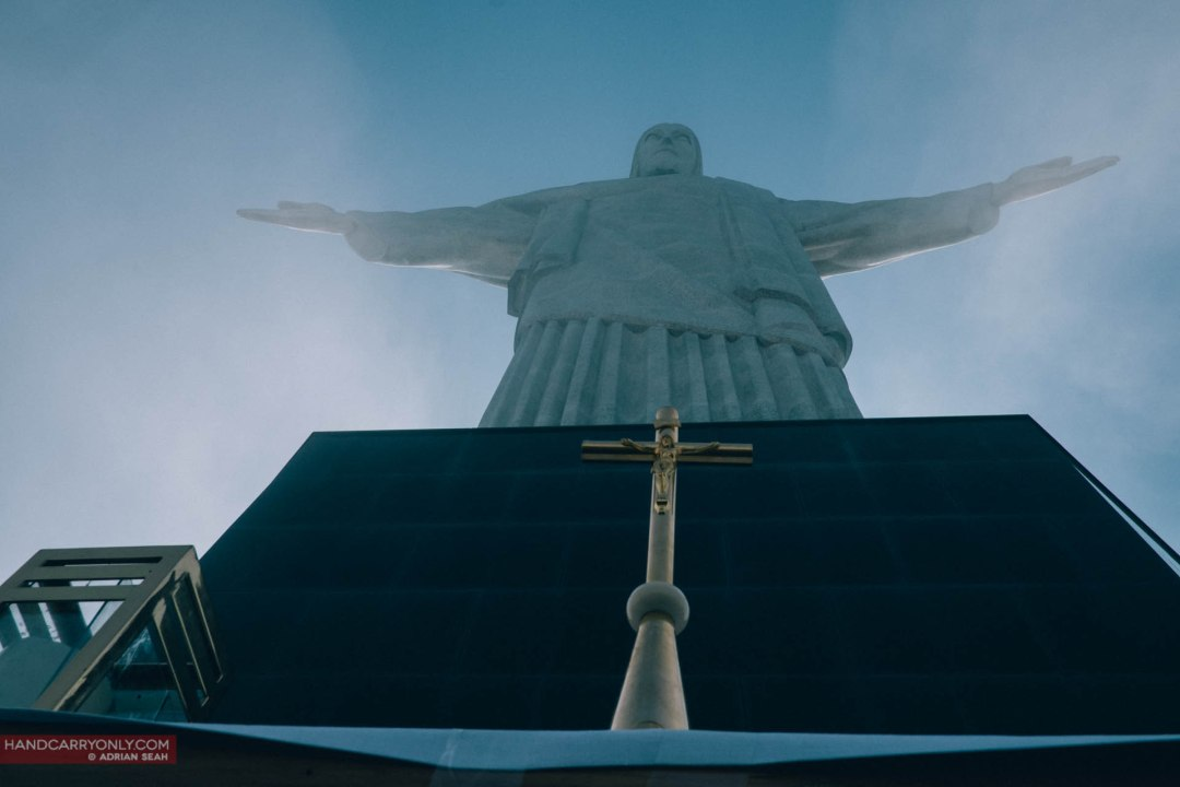 Cristo Redentor (Christ the Redeemer), perched high on Corcovado Mountain in the Tijuca Forest National Park