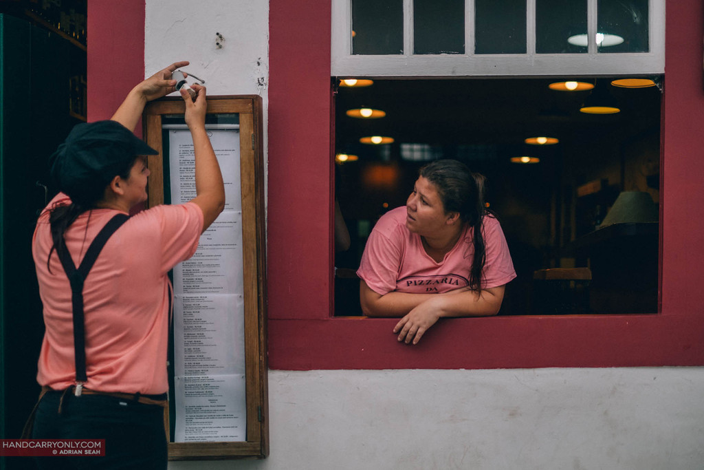 waitresses by the window paraty brazil
