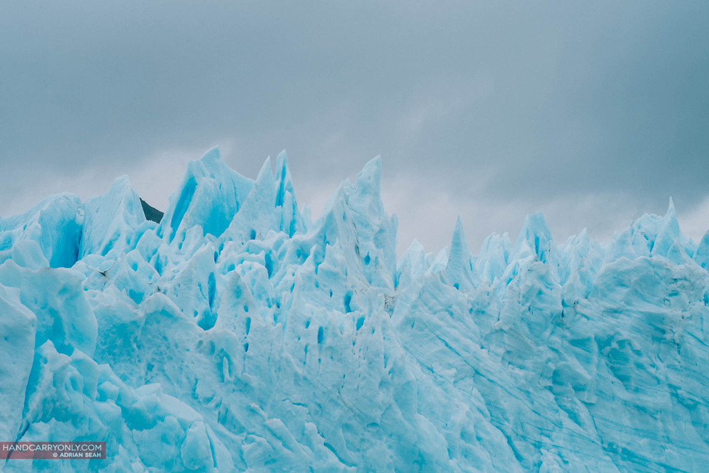 blue ice of the perito moreno glacier