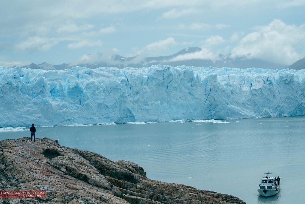 The massive Perito Moreno glacier is one of very few glaciers in the world that are still advancing