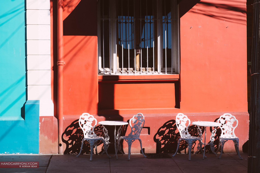 pair of chairs in the sunshine valparaiso chile