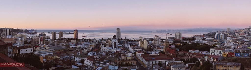panorama valparaiso chile