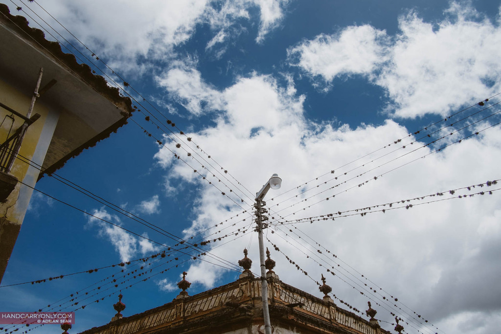 electrical cables with birds nests tarabuco bolivia