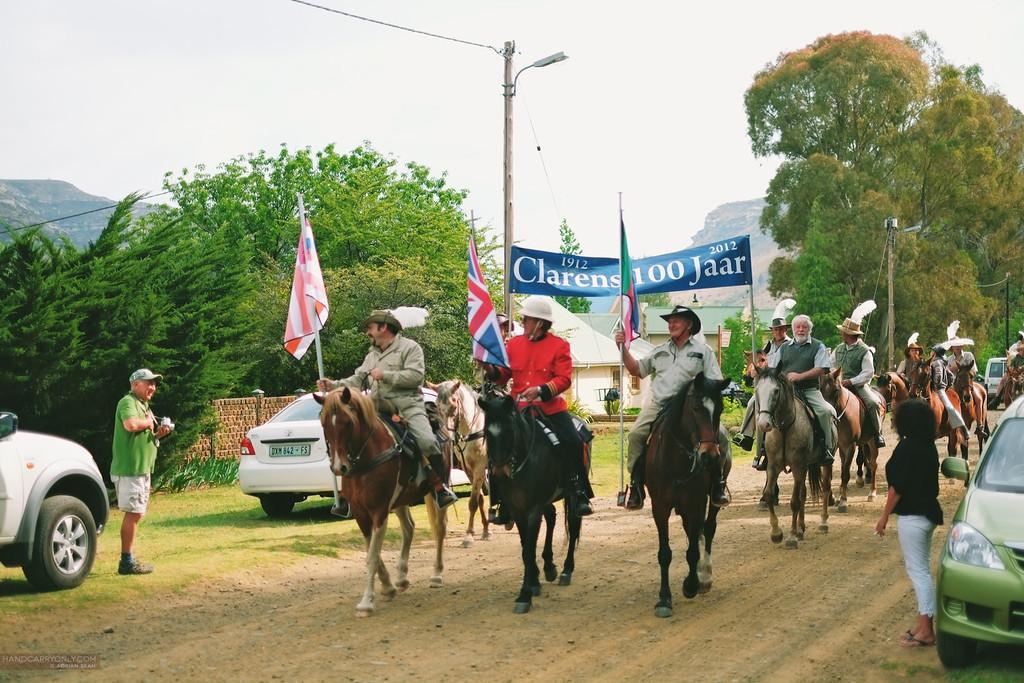 men on horses clarens
