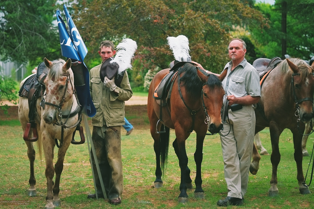 men with horses clarens