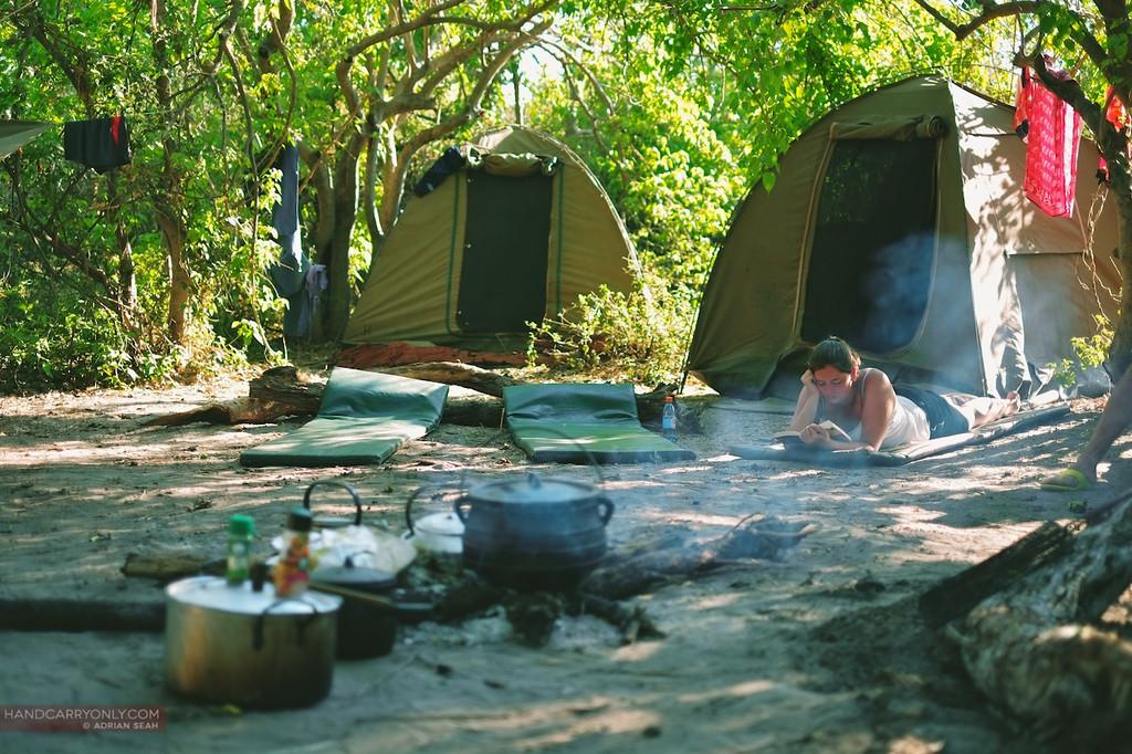 camp site okavango delta