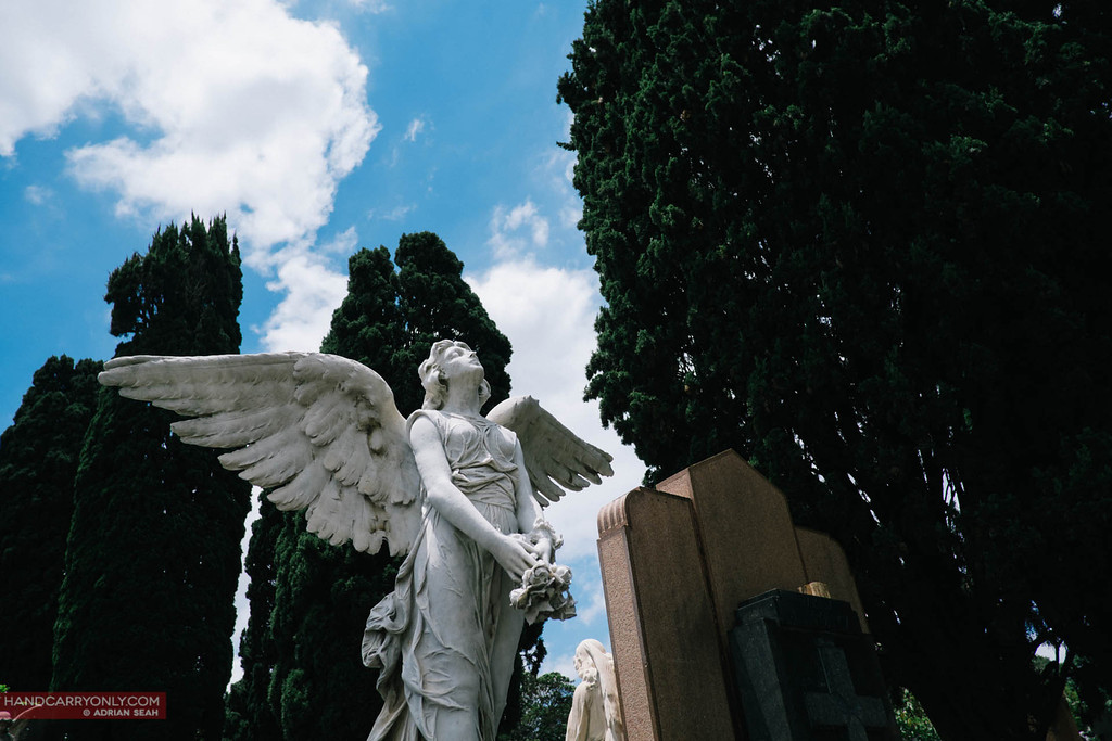 angel sculpture sao paulo cemetery