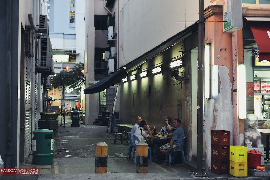 diners in an alley