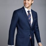 Men S Royal Blue Twill Slim Fit Suit Hawes Curtis