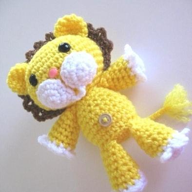 Лев амигуруми крючком: описание игрушки