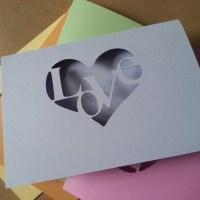 Rainbow Love Heart Card Collection
