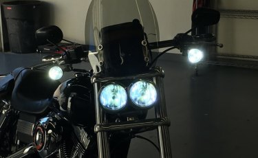 Cool Lighting, Safety and Awareness Upgrades to Fat Bob