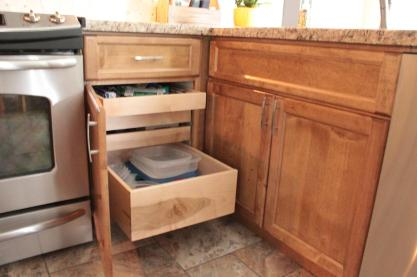 Hidden pullout drawers