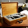 Stamp seal press box for Notary Public to store stamp seal, Queensland maple reclaimed from cyclone yasi