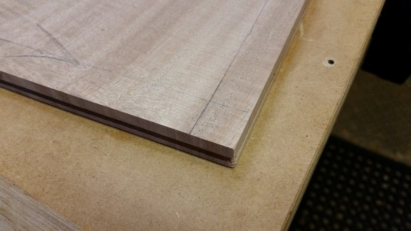 marking lines for the raised panel lid