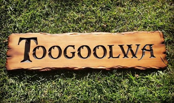 an example of a rustic style sign from Australian Workshop Creations
