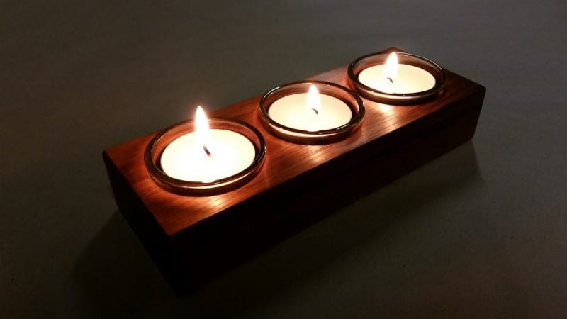 tealight-candle-3-tas-oak-with-glass-inserts-in-use-lit-flame-3-AustralianWorkshopCreations-shop
