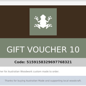 an example of a gift voucher PDF for AWC