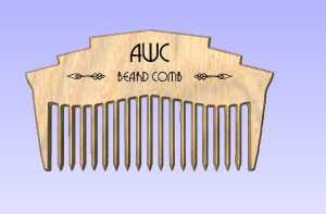 Simulation of beard comb design