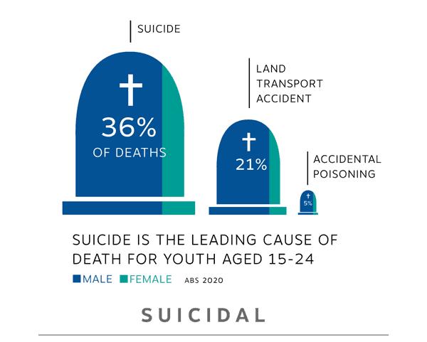 graphical representation of suicide rates australia