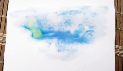 にじみたらし込みのやり方〜水彩絵の具でにじみ絵を描くコツ