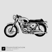 Motorcycle Transportation Vector