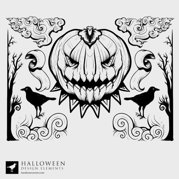 Pumpkin-Forest-Halloween-Vector