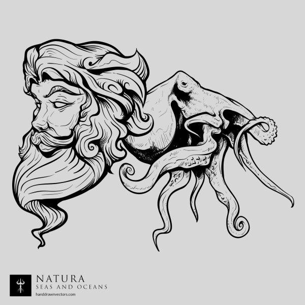 Poseidon-Octapus-Sea-Vector