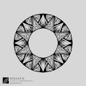 sun wreath vector