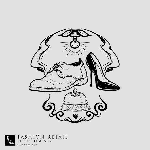 Shoes-Service-Bell-Retail-Vector