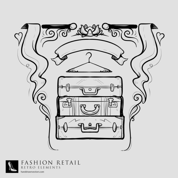 Suitcase-Curtains-Retail-Vector