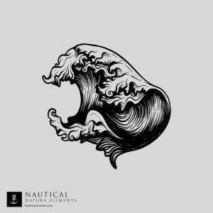 wave nautical vector
