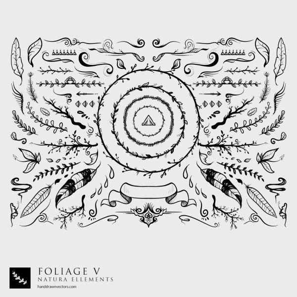 hand-drawn-nature-elements-vectors