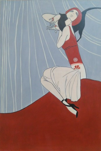 """Copia de la portada de la Revista Semanario Nacional realizada por Ernesto Cabral """"El chango"""" en los años 20. 30x20 cm #80€#"""