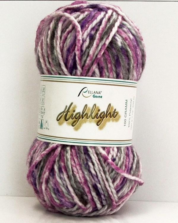Highlight-Garn in lila-rosa-grau