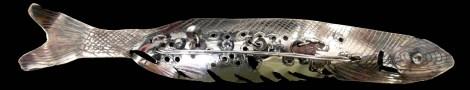 Fiskbrosch i silver