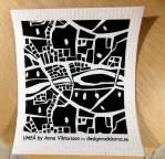 Disktrasa med Umeåkarta