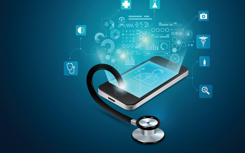 Vektorgrafikk som viser e-helsetjenester