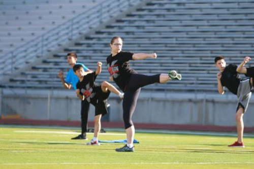 One of many derpy kicks that has slowly become un-derped by great coaching and lots of drilling. Photo by Jason Candler. (Thanks, Jason!)
