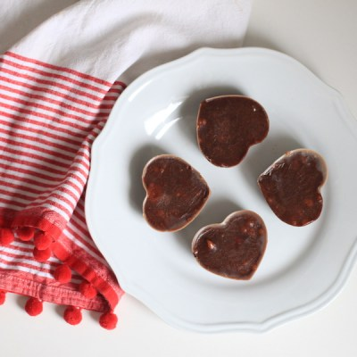 Healthy 4 Ingredient Chocolate & Almond Butter Hearts