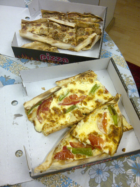 Cheese and Meat Pide Fresh from the Venus Supermarket