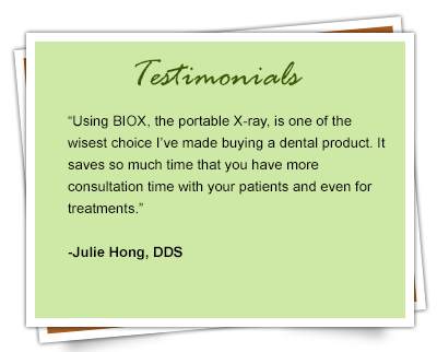 BIOX Portable Handheld X-Ray Unit Testimonial 1