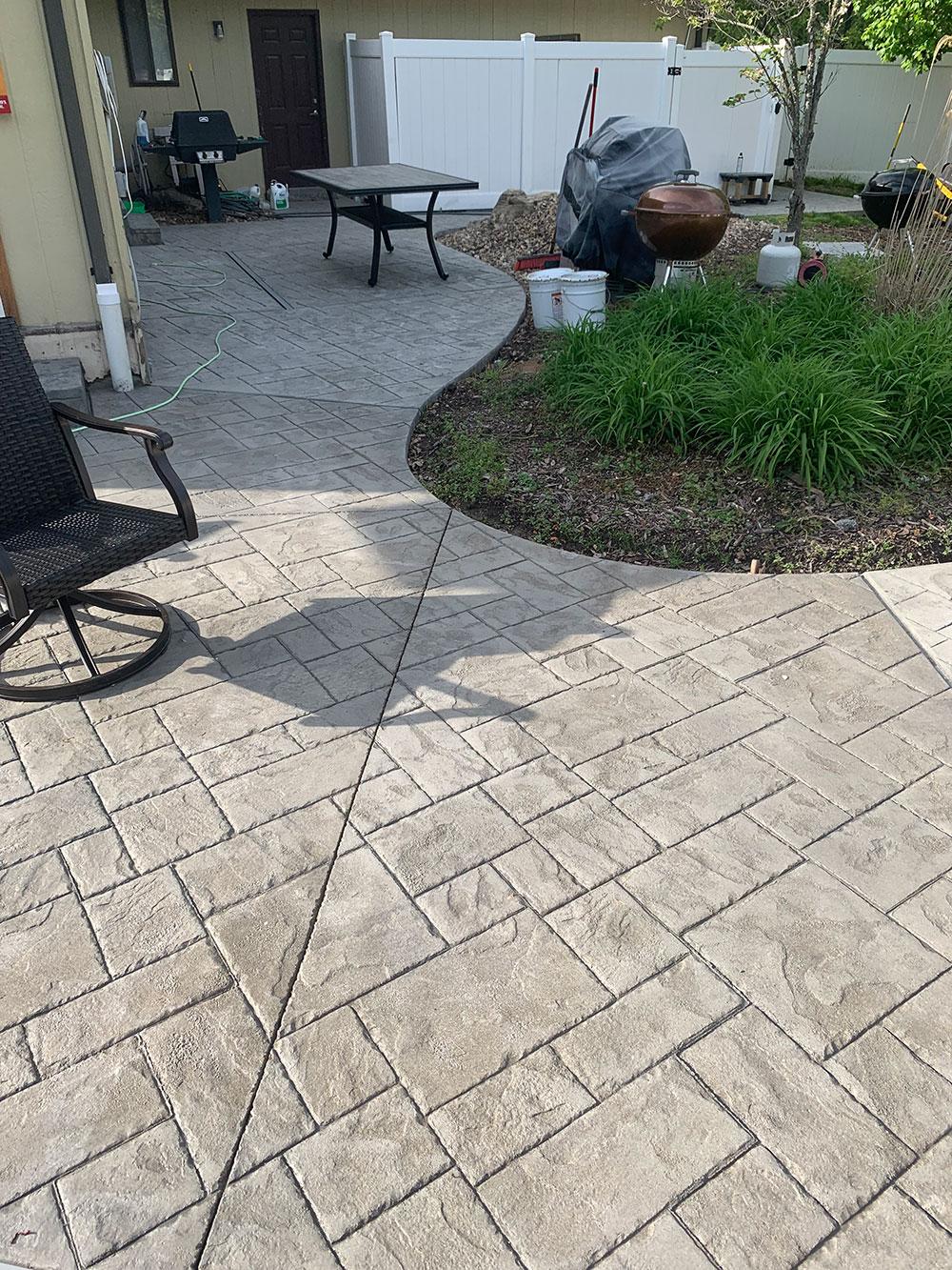stamped concrete repair pool repair
