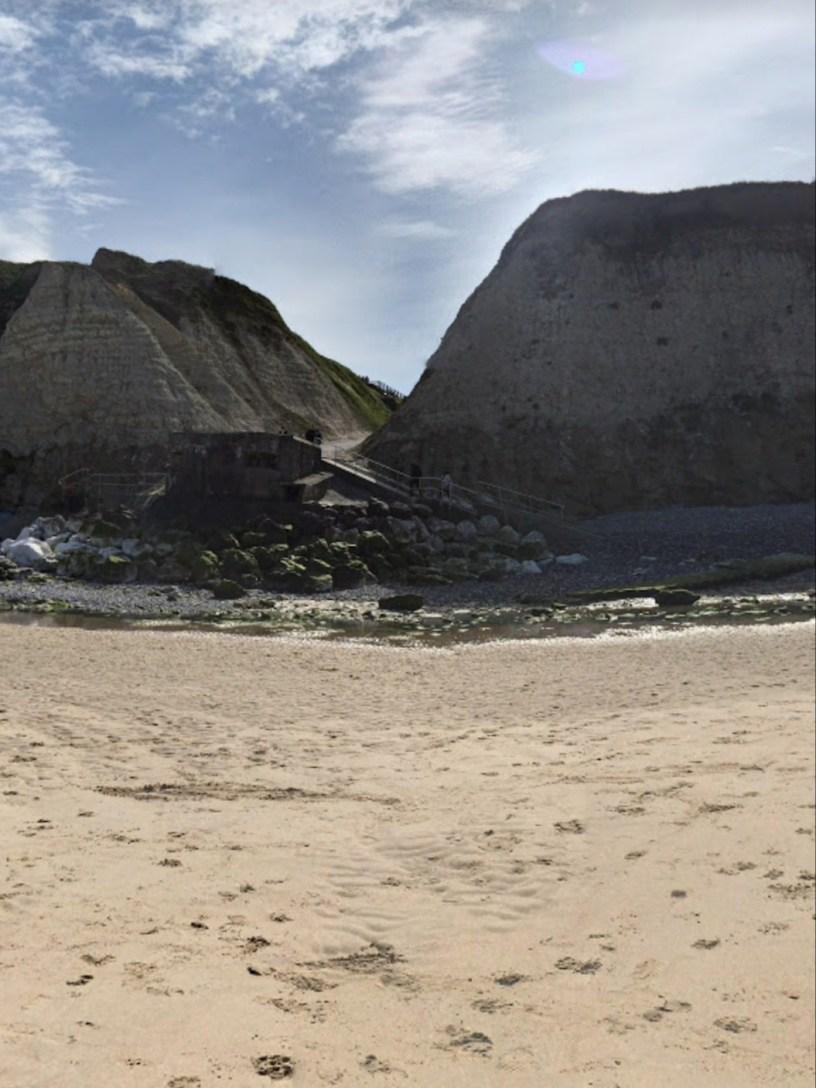 ohoto du cran d'Escalles vu de la plage