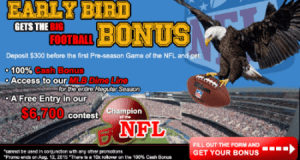 "CRSportsBet's ""The Early Bird Gets The Big Football Bonus"" - EXTENDED! 4"