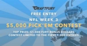 Free $5K Pick'em Contest at DraftFury