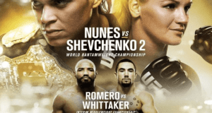 Nunes Out of UFC 213: Whitaker vs. Romero Becomes Main Event 1