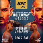 UFC 218 Holloway - Aldo 2