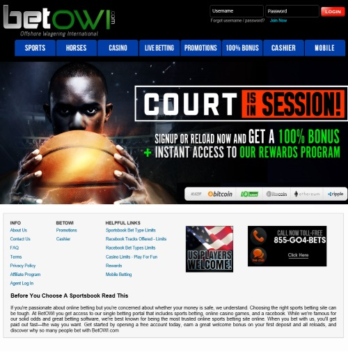 BetOWI.com Sportsbook Review 1