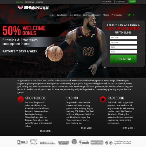 WagerWeb.eu Sportsbook Review 1